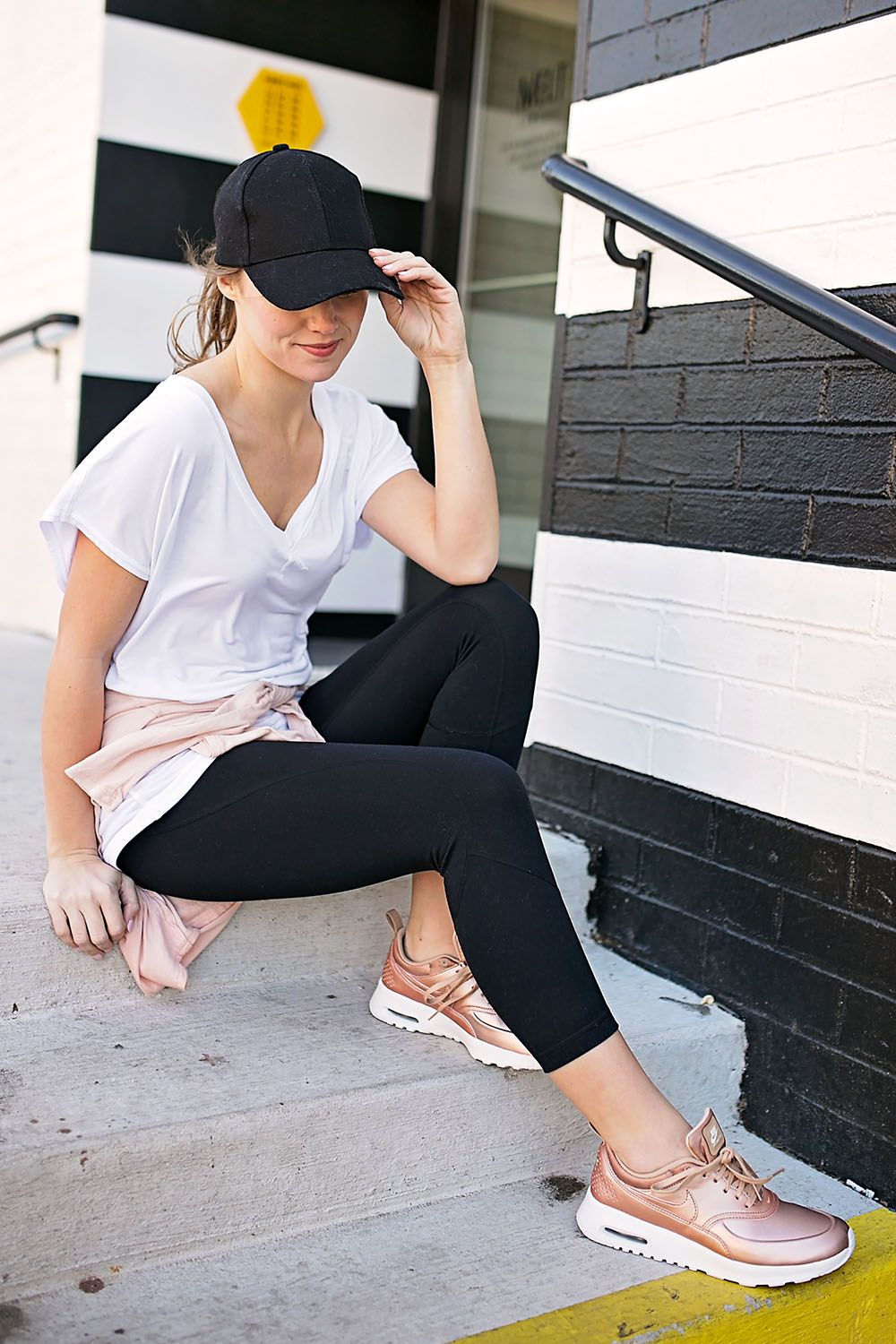 If You Re Anything Like Me These Rose Gold Metallic Sneakers Were The First Things To Catch Your Eye Outfits Tenis Sneakers Outfit Casual Casual Shoes Outfit [ 1500 x 1000 Pixel ]