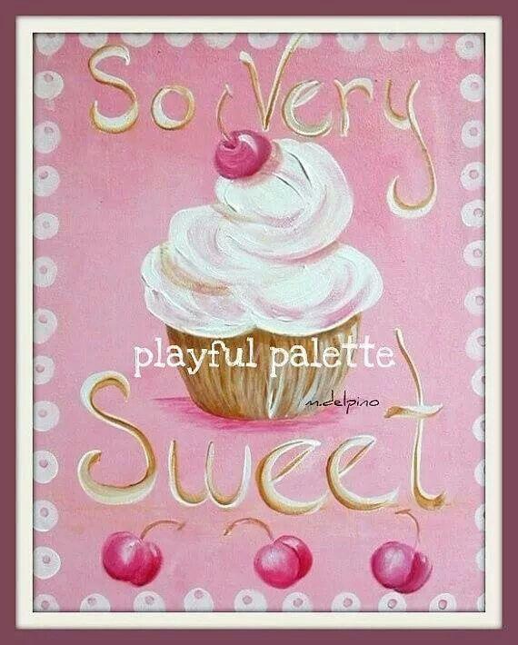 Girls wall Prints//Cupcake wall print//Kitchen print//Cake Print//Nursery print