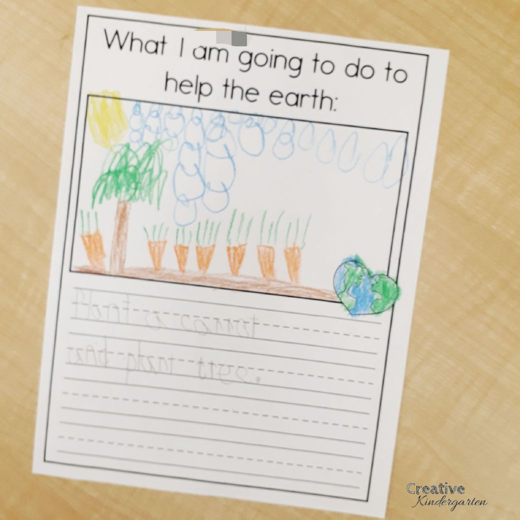 Earth Day Class Book With Free Writing Prompt
