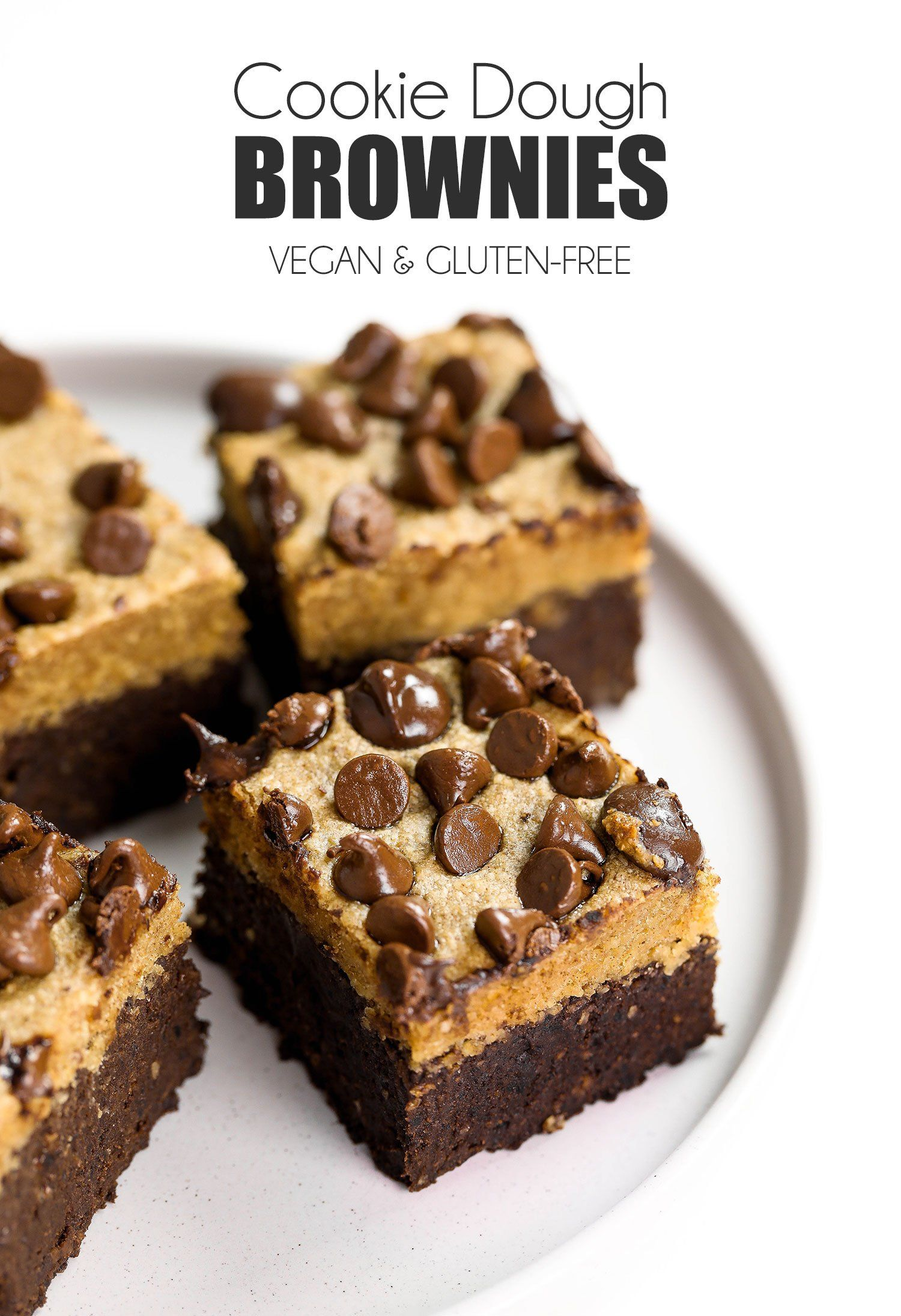 Cookie Dough Brownies Vegan, Gluten-free & Sweetened With Dates #healthycookiedough
