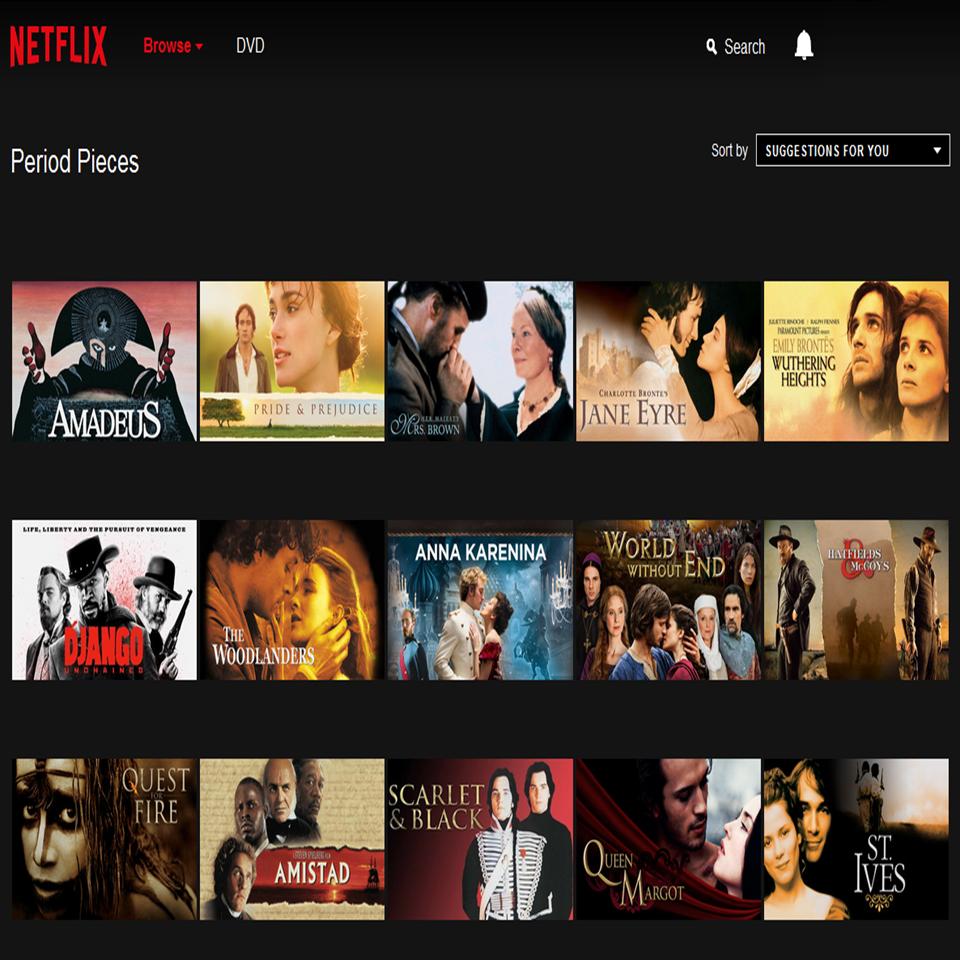 Secret link to Period Pieces movie archive on Netflix! Genre Code