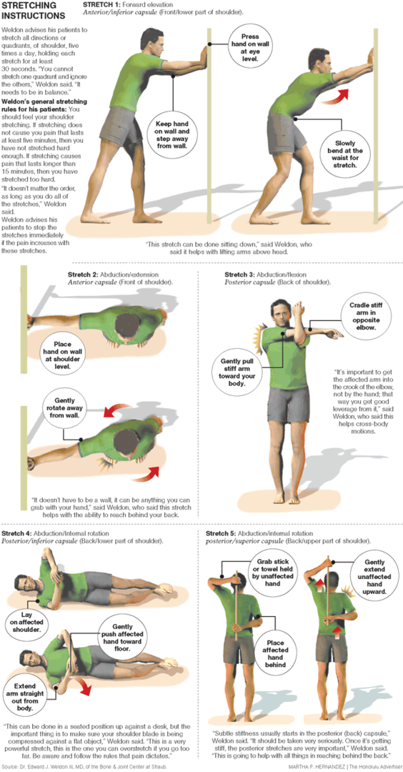 Shoulder Stretches | Fitness and exercise | Pinterest ...