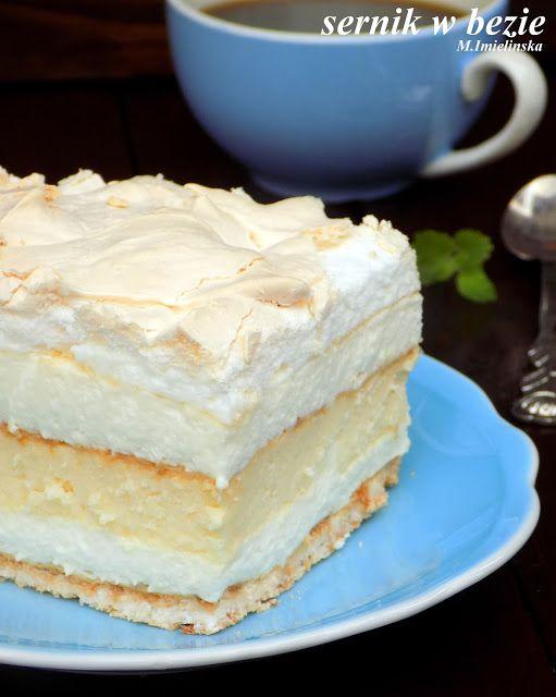 Domowa Cukierenka Domowa Kuchnia Sernik W Bezie Ciasta I Desery