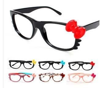 38003626df03 Hello Kitty cat frames modelling bowknot eyeglass frame, kid glass frame,  nice good quality,Freeshipping-in Apparel & Accessories on Aliexpress.com