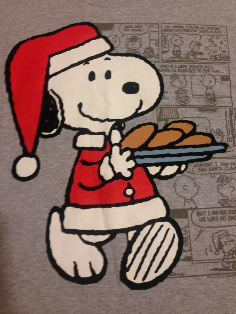 Peanuts Christmas T Shirt Snoopy Charlie Brown Lucy Santa Suit