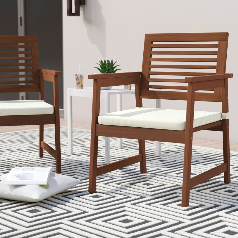 Arianna Patio Chairs with Cushions Wood patio chairs