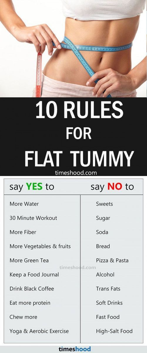 diets for a flat stomach fast