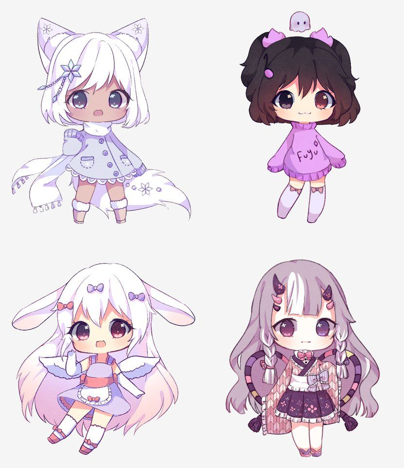 Christmas Requests Batch By Antay6009 Deviantart Com On Deviantart Cute Anime Chibi Anime Character Design Kawaii Chibi