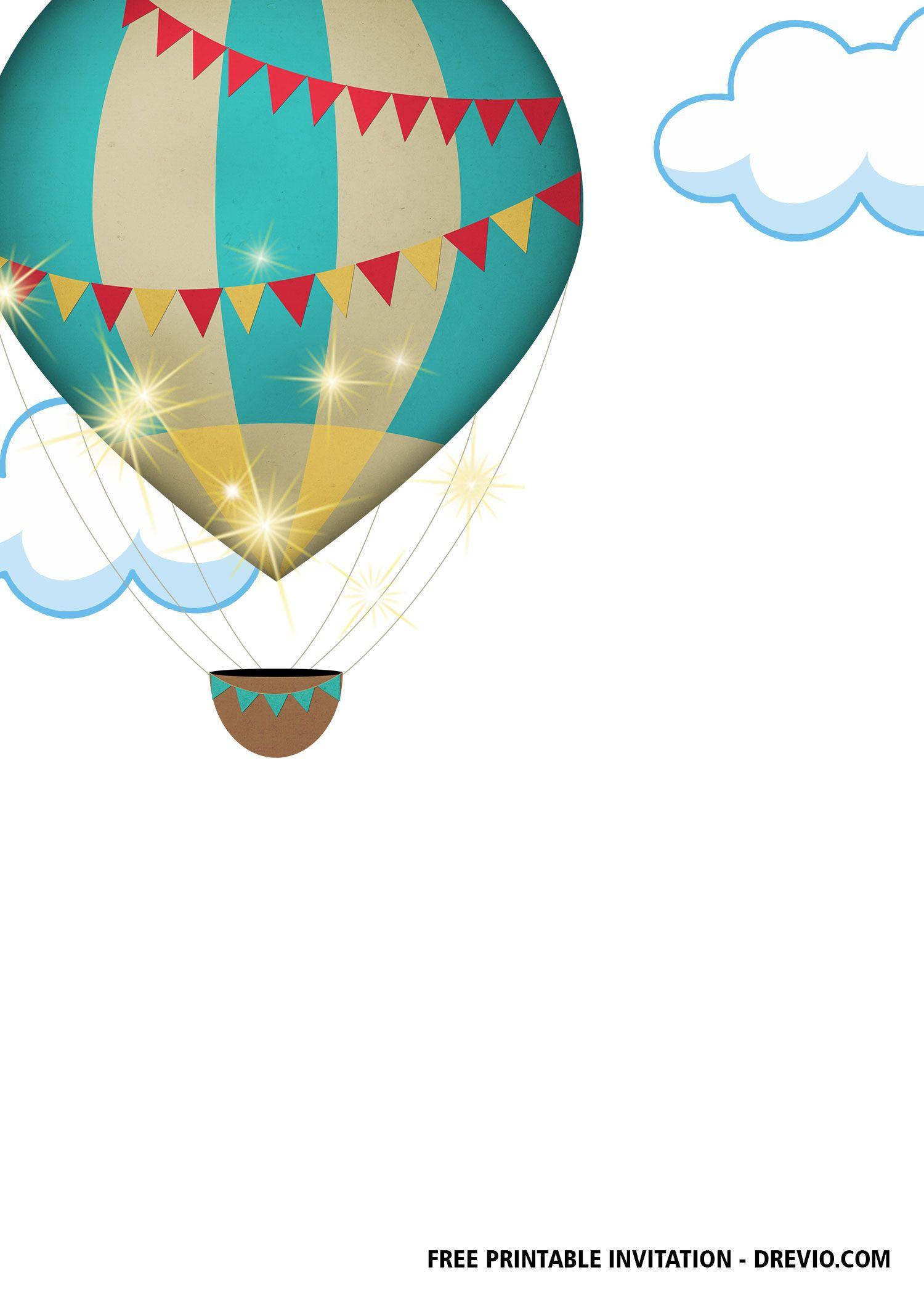 Graduation Greeting Card Dream Big Blank Card Printable Congrats Career Congratulations   Hot Air Balloon School Promotions