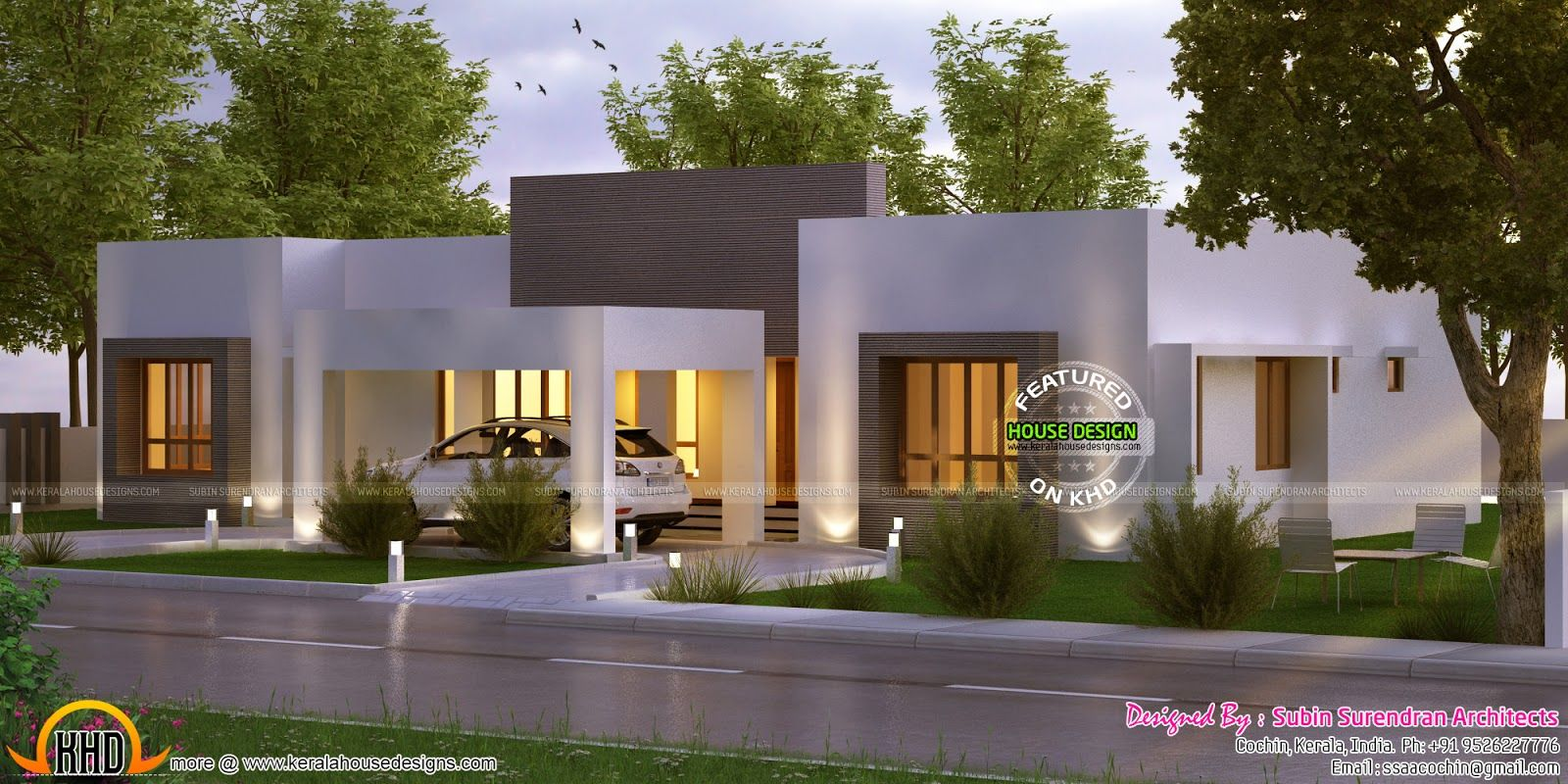 Elegant Looking One Floor Home Contemporary House Design Single Floor House Design Modern House Plans