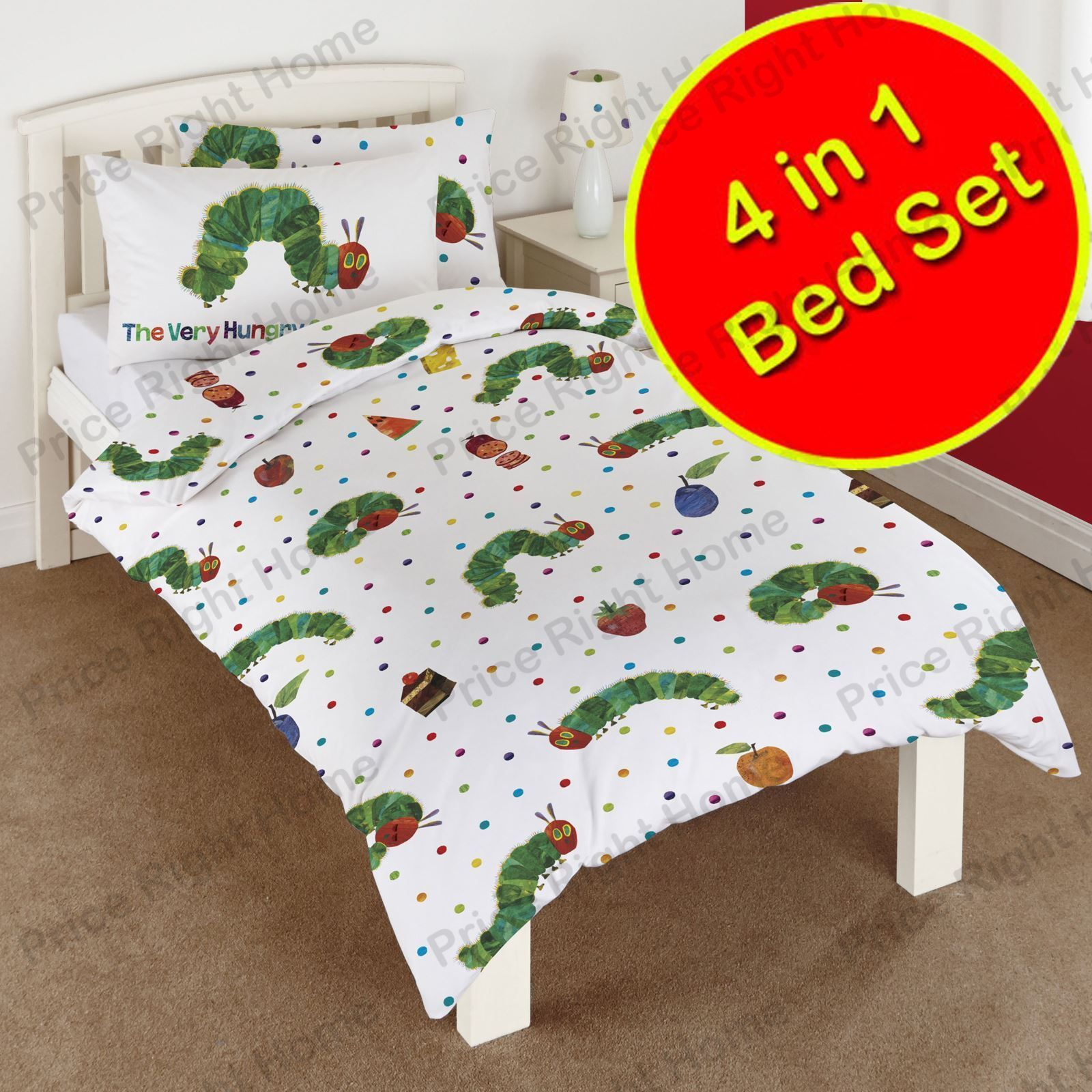 The Very Hungry Caterpillar 4 In 1 Junior Bedding Bundle