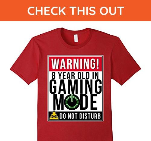 Mens 8th Birthday Shirt For Boys 8 Year Old Gamers Tee XL Cranberry