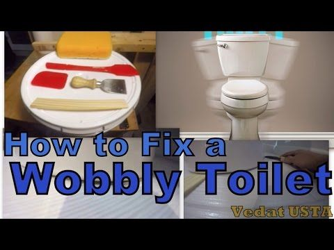 How To Fix A Wobbly Toilet Tightening A Loose Toilet Vedat Usta Toilet Repair Toilet Diy Repair
