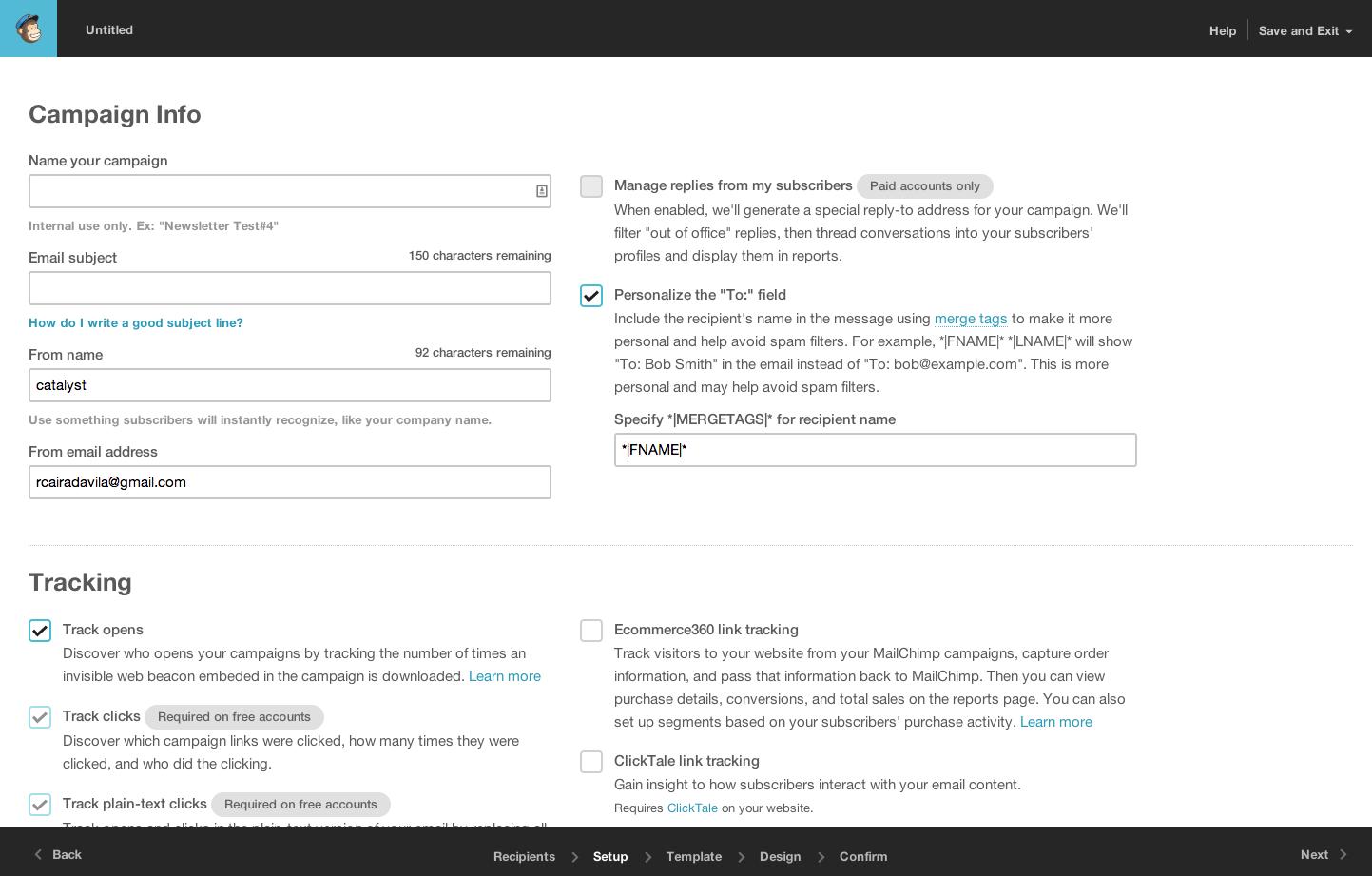 mail.chimp form Mailchimp, Web application, North star