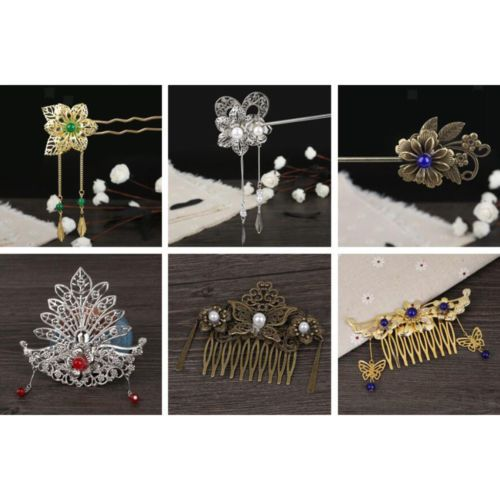 1 Set Women Vintage Hair Stick Set Tassel Hairpins Chinese Hair Accessories