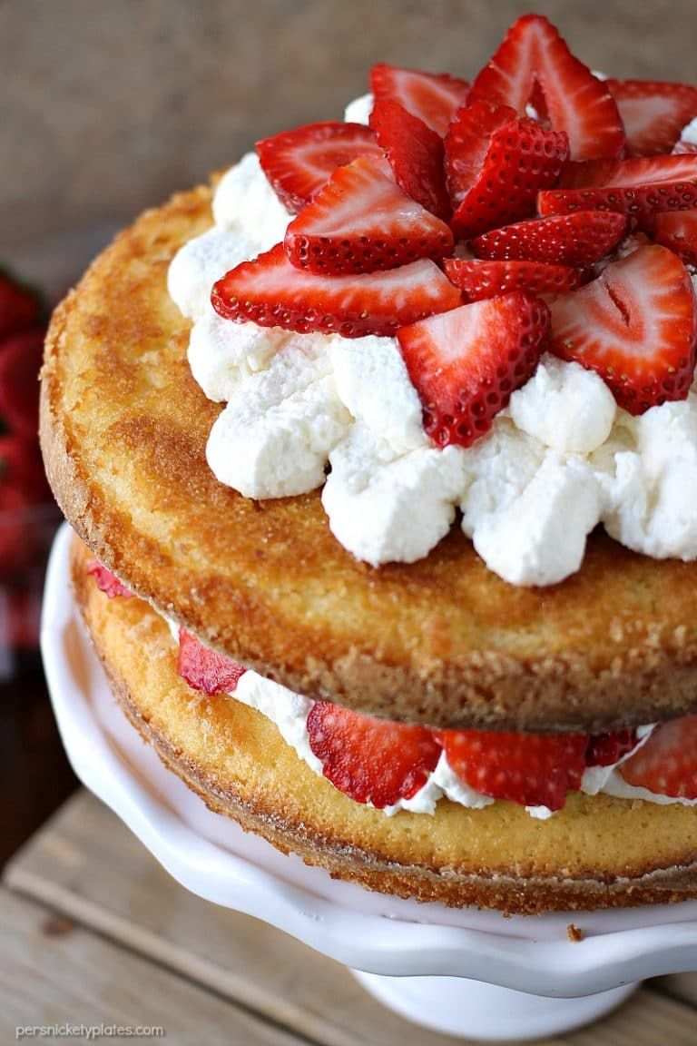 Strawberry Shortcake Cake Is A Rustic Vanilla Layer Cake