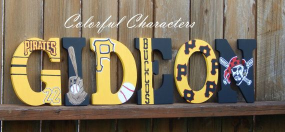 Pittsburgh Pirates Wall letters hand painted by ColorfulCharacters ...