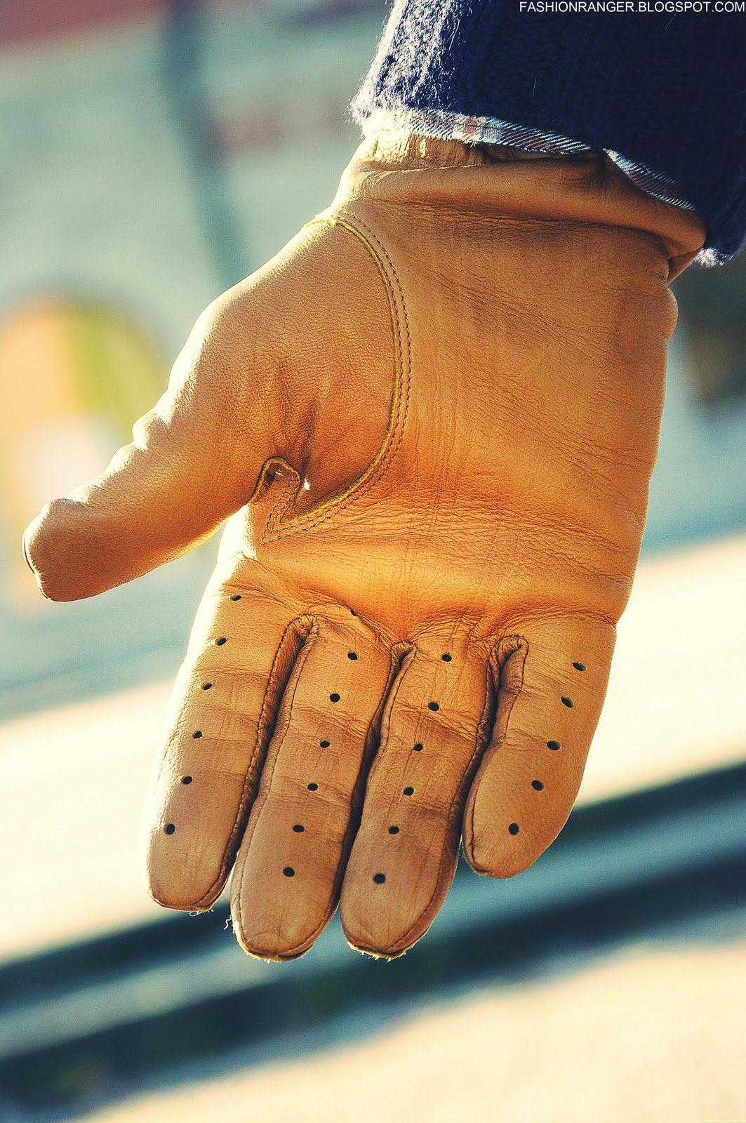 Vintage mens leather gloves - 2 Brown Leather Gloves