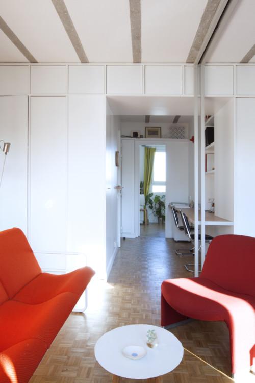 Esprit Fifties 53 M Sur Les Hauts De Paris En 2020 Cabinet Architecte Mobilier Design Grand Meuble