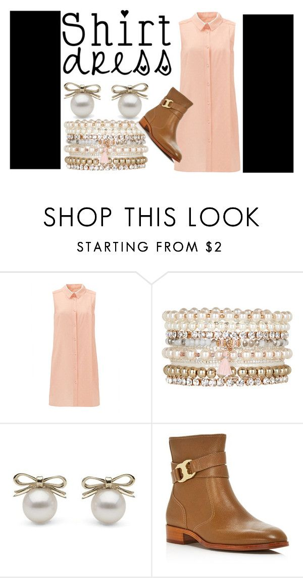 """Shirtdress"" by dnt-get-hacked ❤ liked on Polyvore featuring Accessorize, Tory Burch and shirtdress"