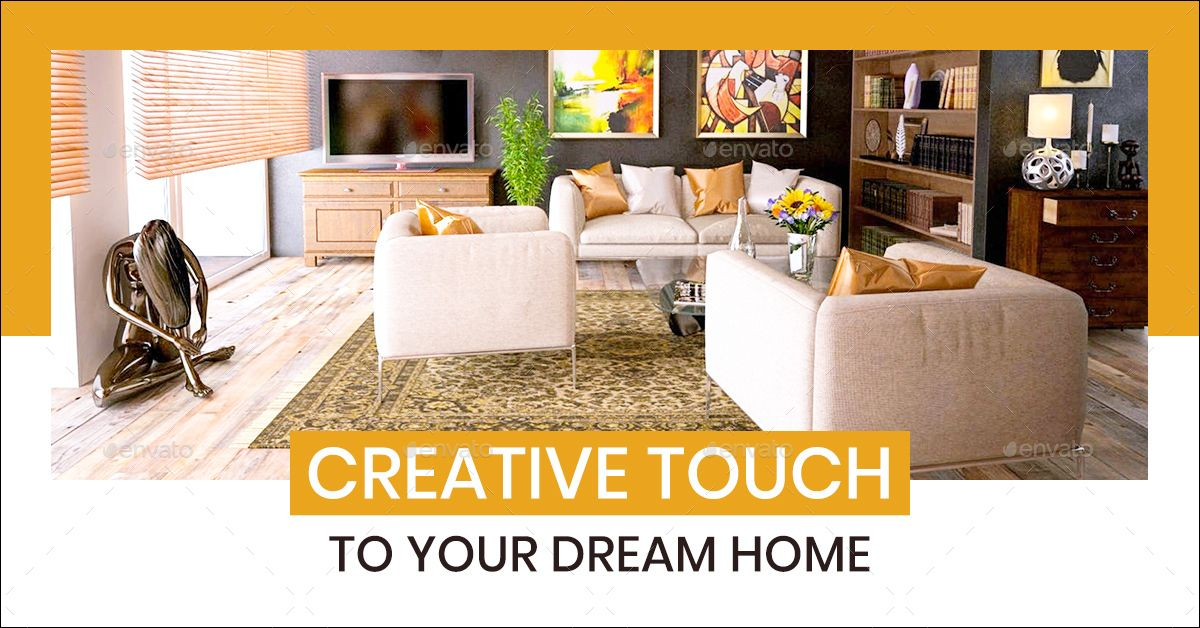 Interior Design Web Banner Set With Images Interior Design