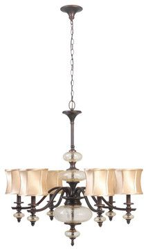 World Imports 8546-56 Chambord Weathered Bronze 6 Light Chandelier traditional chandeliers
