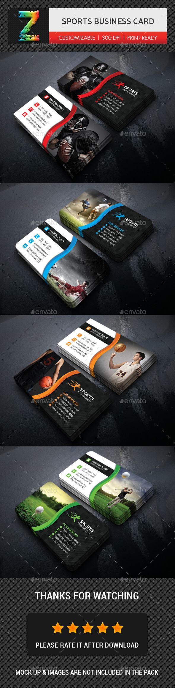 Sports Business Card Business Cards Print Templates Download Here Https Graphicriver Net Ite Business Cards Business Card Template Psd Sports Business