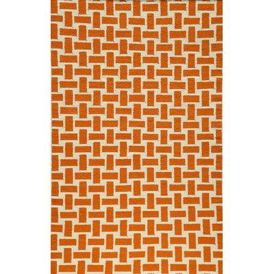 Wrought Studio Hagler Hand Woven Orange Area Rug Rug Size Rectangle 2 X 3 Orange Area Rug Geometric Rug Orange Rugs
