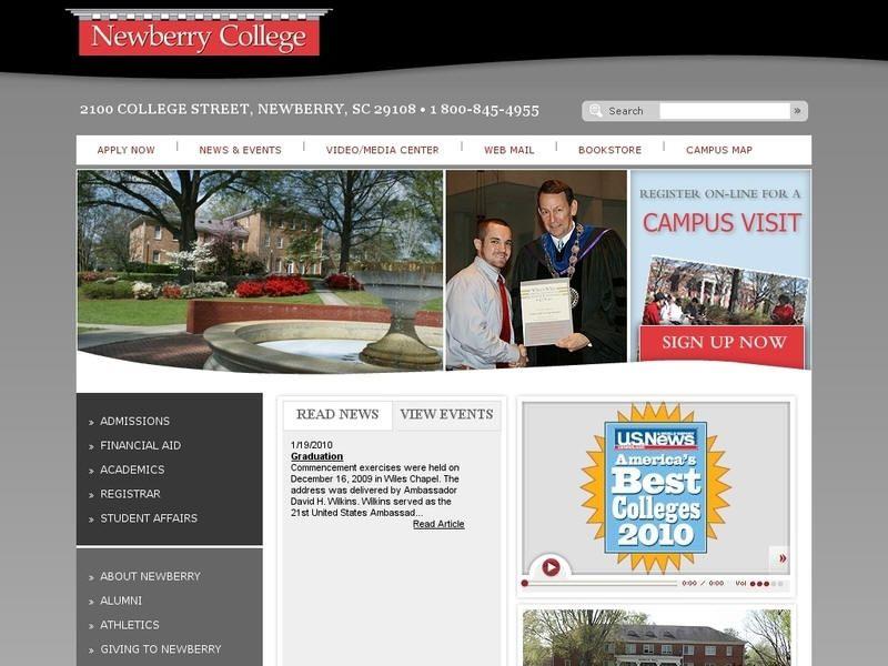 Newberry college newberry college college campus visit