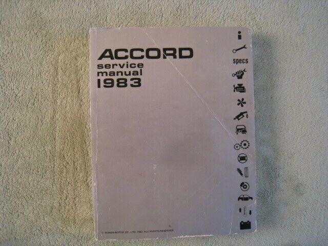 Advertisement Ebay 1983 Honda Accord Service Manual First