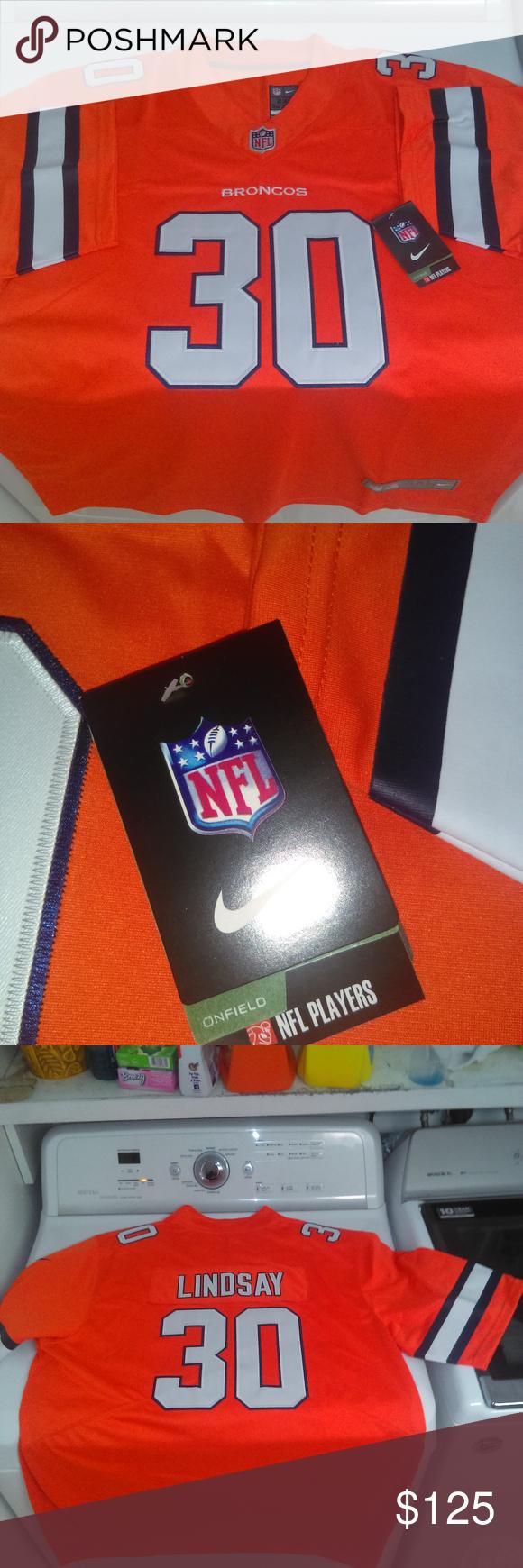 brand new 245f1 d099d Phillip Lindsay Denver Broncos Nike Jersey Color rush ...