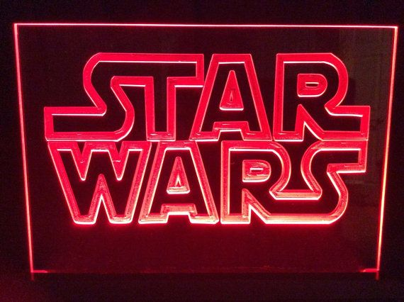 Star Wars LED sign by JSWoodDesignsTexas on Etsy
