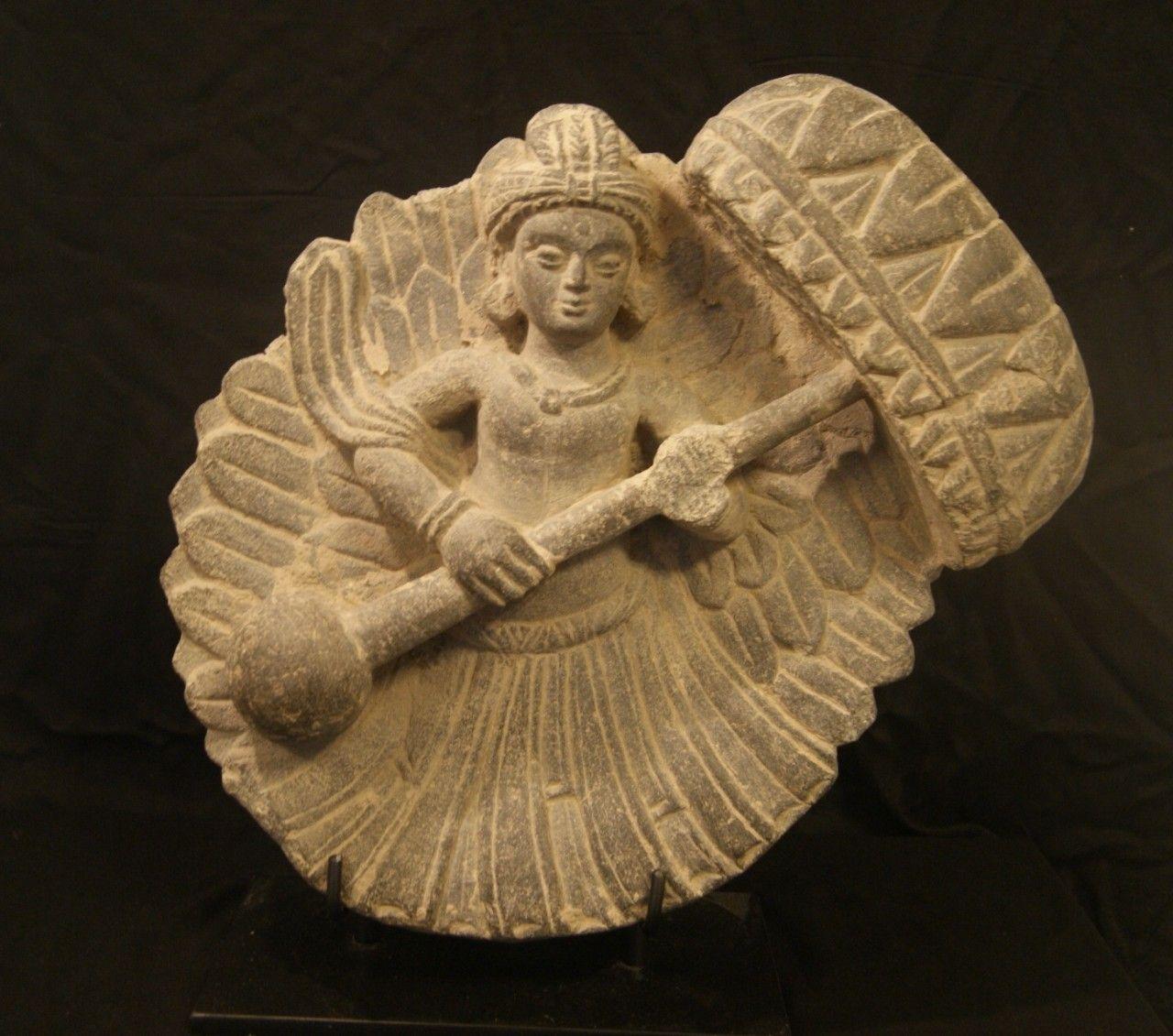 Chatradhara Umbrella Bearer Gandhara Art Celestial