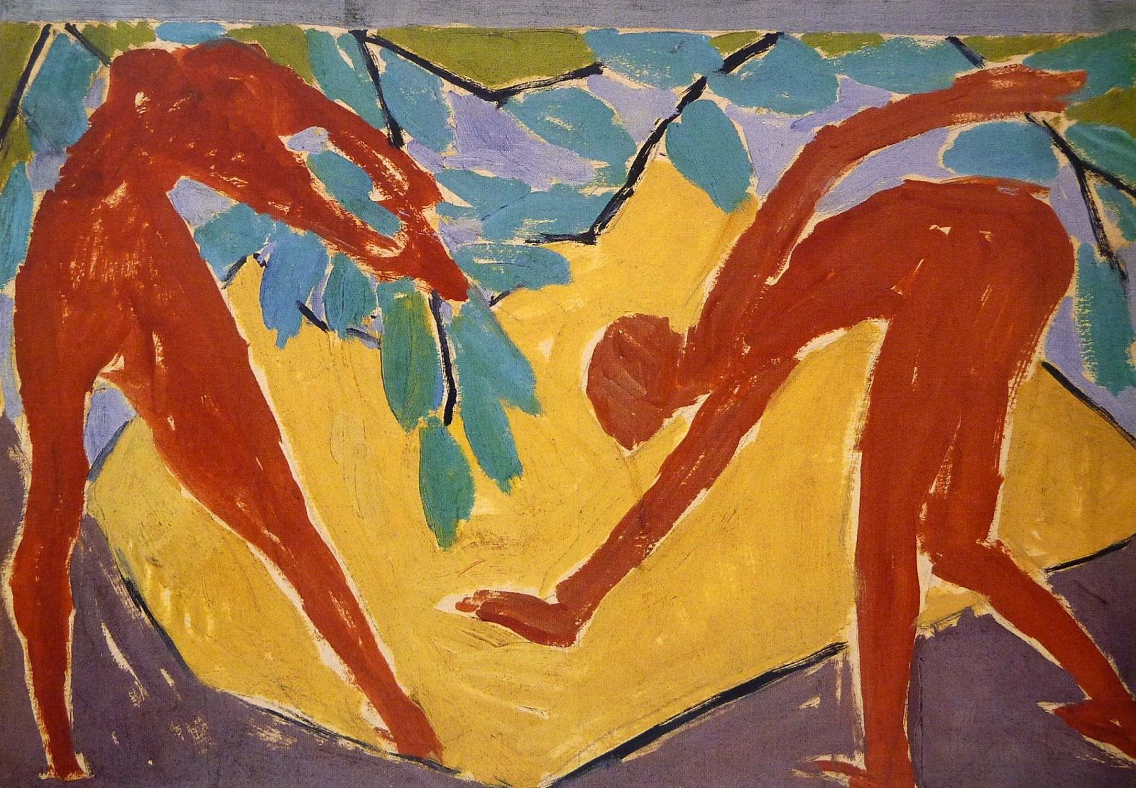Vanessa Bell -Design for Adam and Eve Screen, 1913-14