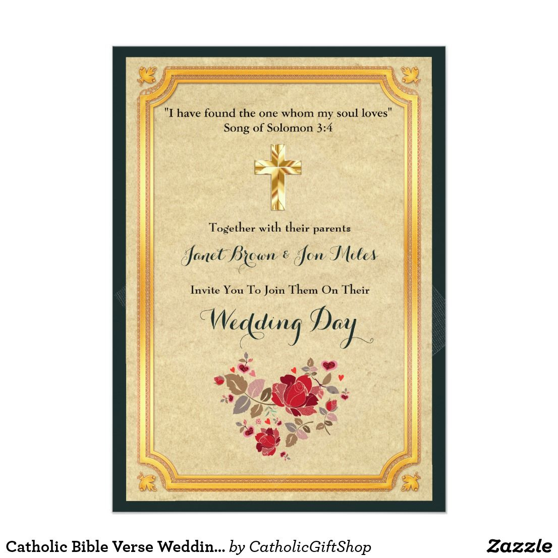 Catholic Bible Verse Wedding Invites Corinthians | Trending Wedding ...