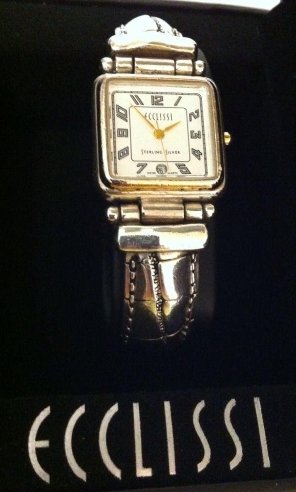 Ecclissi Sterling Silver Watch Bracelet Heavy 82g #Ecclissi