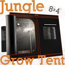 Bloomerang Jungle Grow Tent - 4u0027 x 8u0027 x 6.5u0027 Reflective Mylar Portable Tent & Bloomerang Jungle Grow Tent - 4u0027 x 8u0027 x 6.5u0027 Reflective Mylar ...