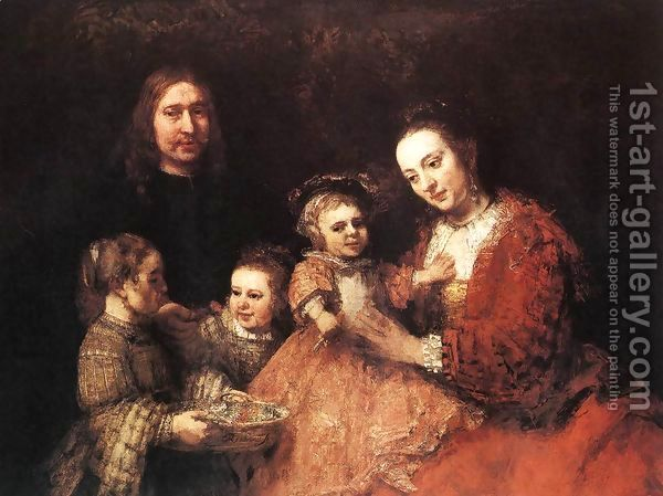 Family Group 1666-68 by Rembrandt Van Rijn