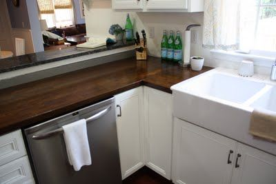 3 Ways To Update Your Kitchen Counters On A Budget Paint Old Laminate Install C Butcher Block Countertops Butcher Block Kitchen Replacing Kitchen Countertops