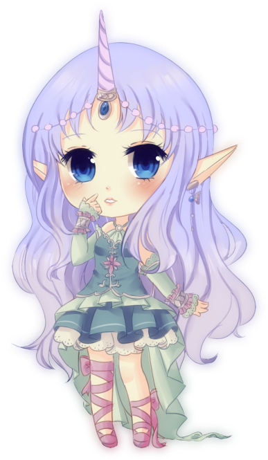 Unicorn Girl By Xichuu Deviantart Com On Deviantart Anime Chibi