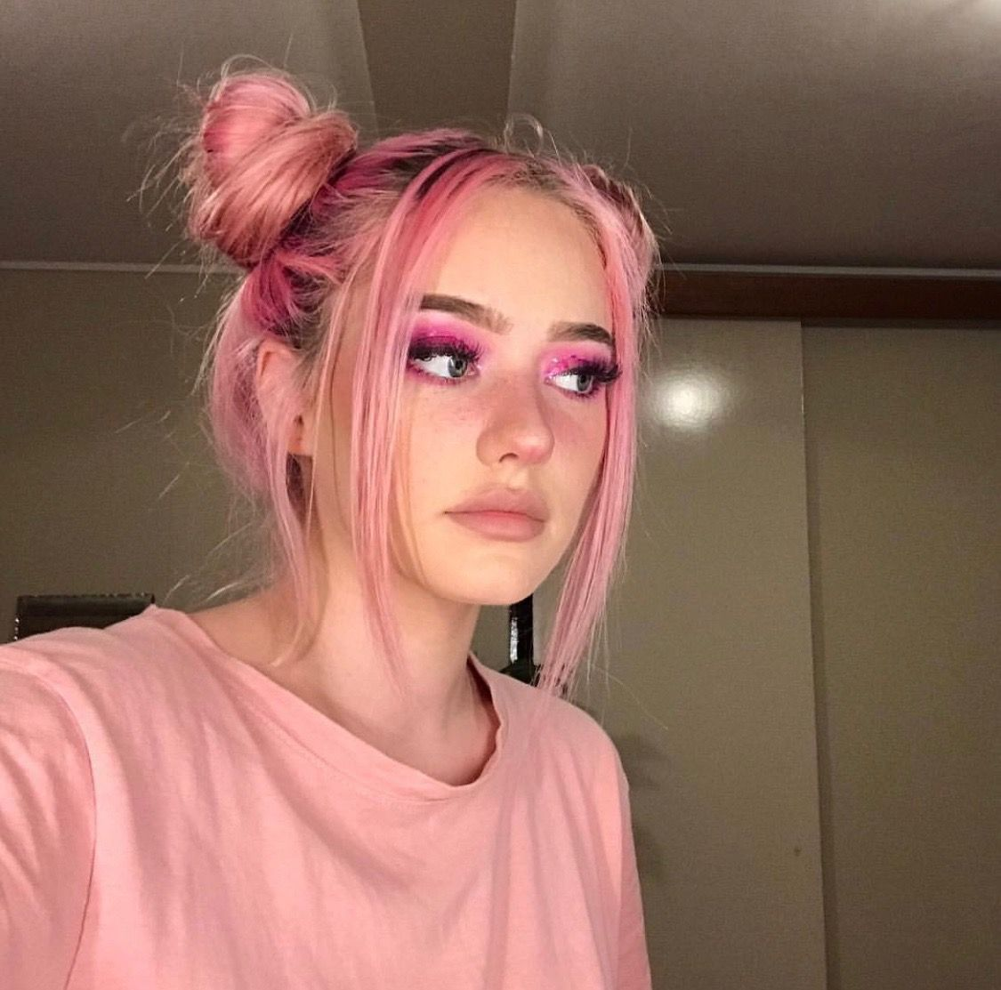 Pin By Rosejam On Lucille In 2020 Light Pink Hair Aesthetic Hair Edgy Hair