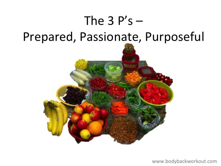 Keys to success. Preparation, Passion Purpose!