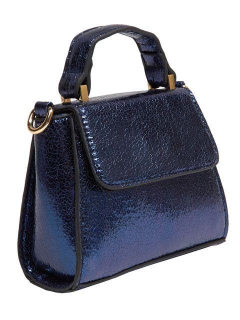 Skinnydip Blue Crackle Micro Lady Bag