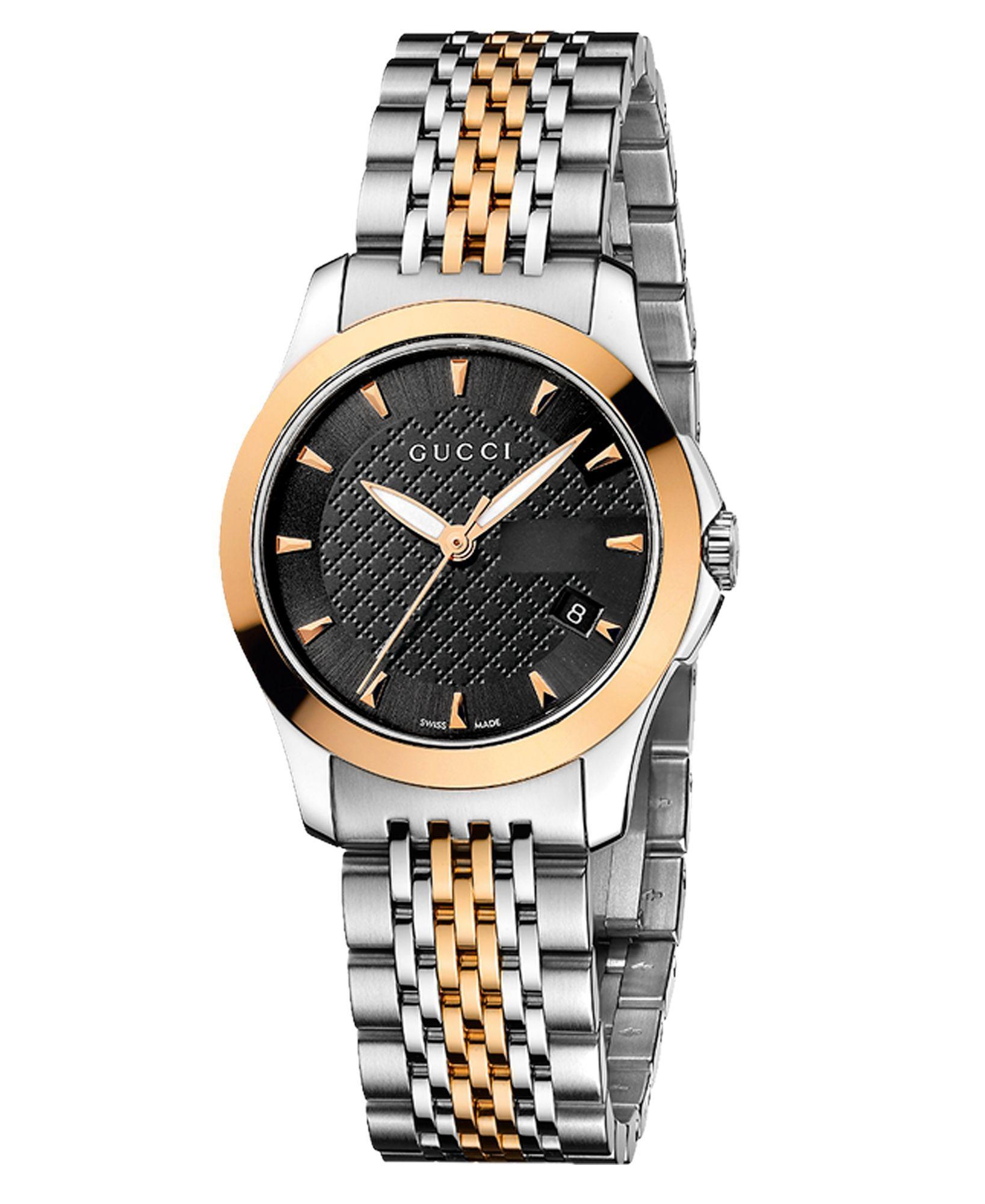 febf7a34865 Women s Swiss G-Timeless Two Tone Stainless Steel Bracelet Watch ...