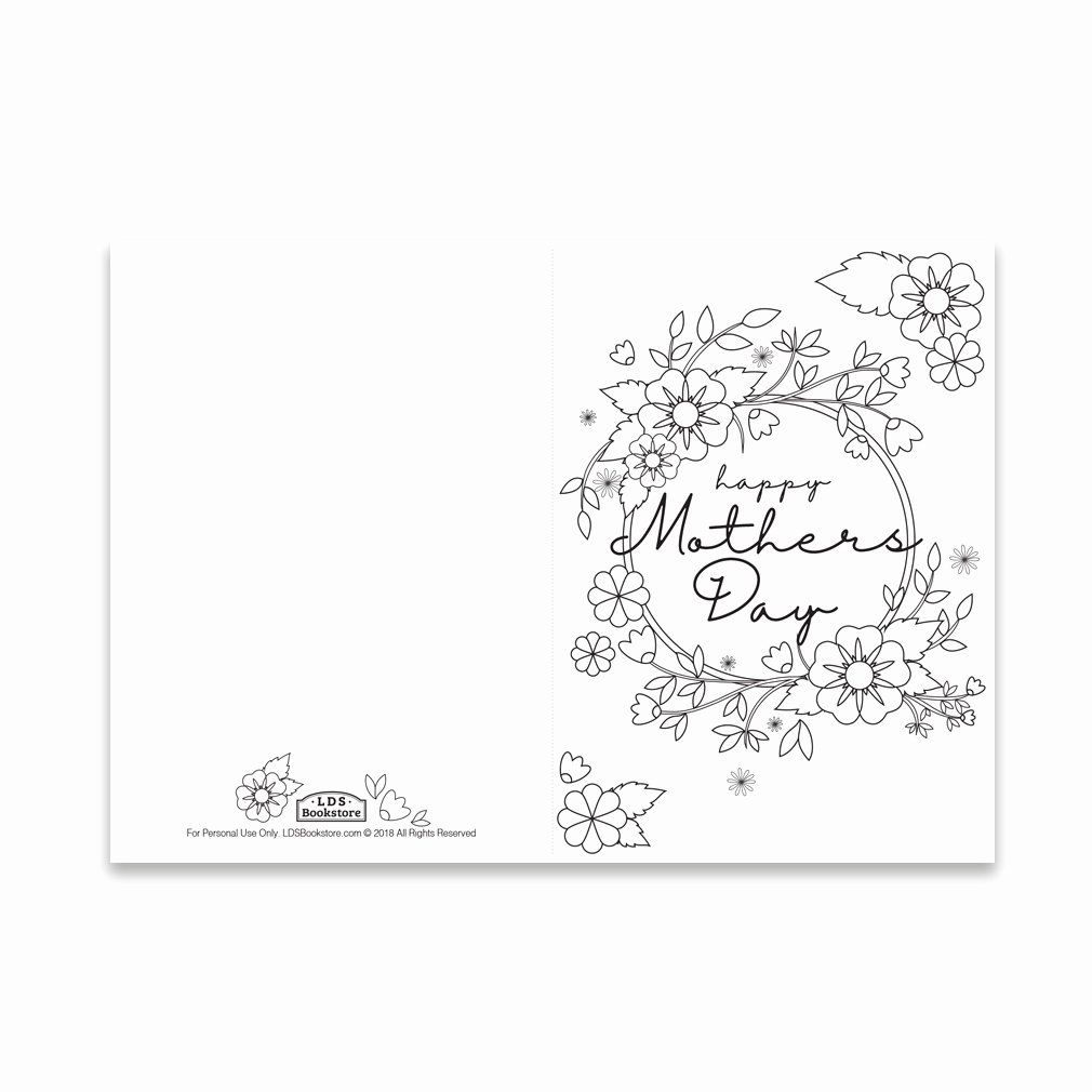 Mother Day Certificates To Print Best Of Mother S Day Coloring Card Spring Flowers Print In 2020 Mothers Day Coloring Cards Mothers Day Card Template Mothers Day Cards