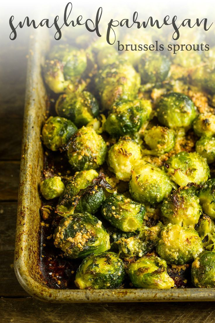 Smashed Brussels Sprouts with Parmesan #smashedbrusselsprouts