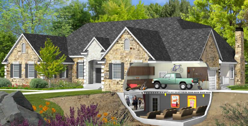 Live play twin cities precast garage floors garage for Precast concrete home plans
