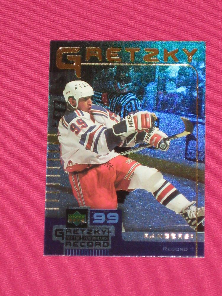 1999 00 1 Wayne Gretzky Ud Mcdonalds Record Goals 99 Nhl Hockey Card Ebay Hockey Cards Nhl Hockey Hockey