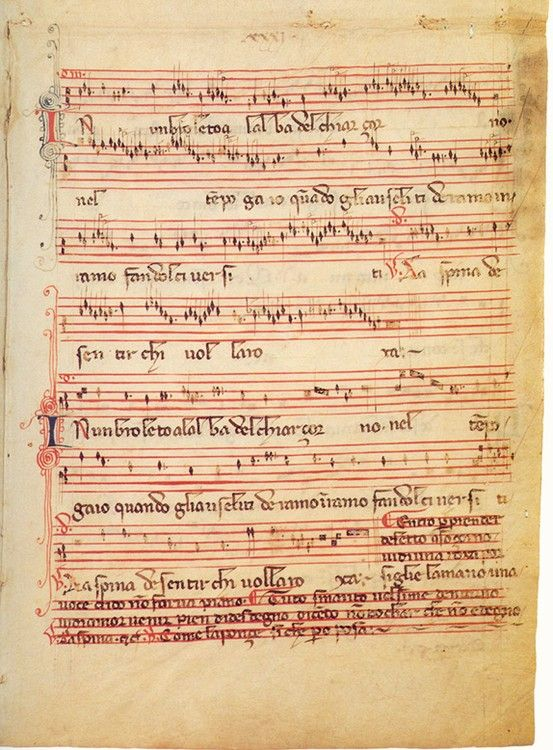 Folio 31r Of The Rossi Codex Upon Which Is Written A Madrigal The