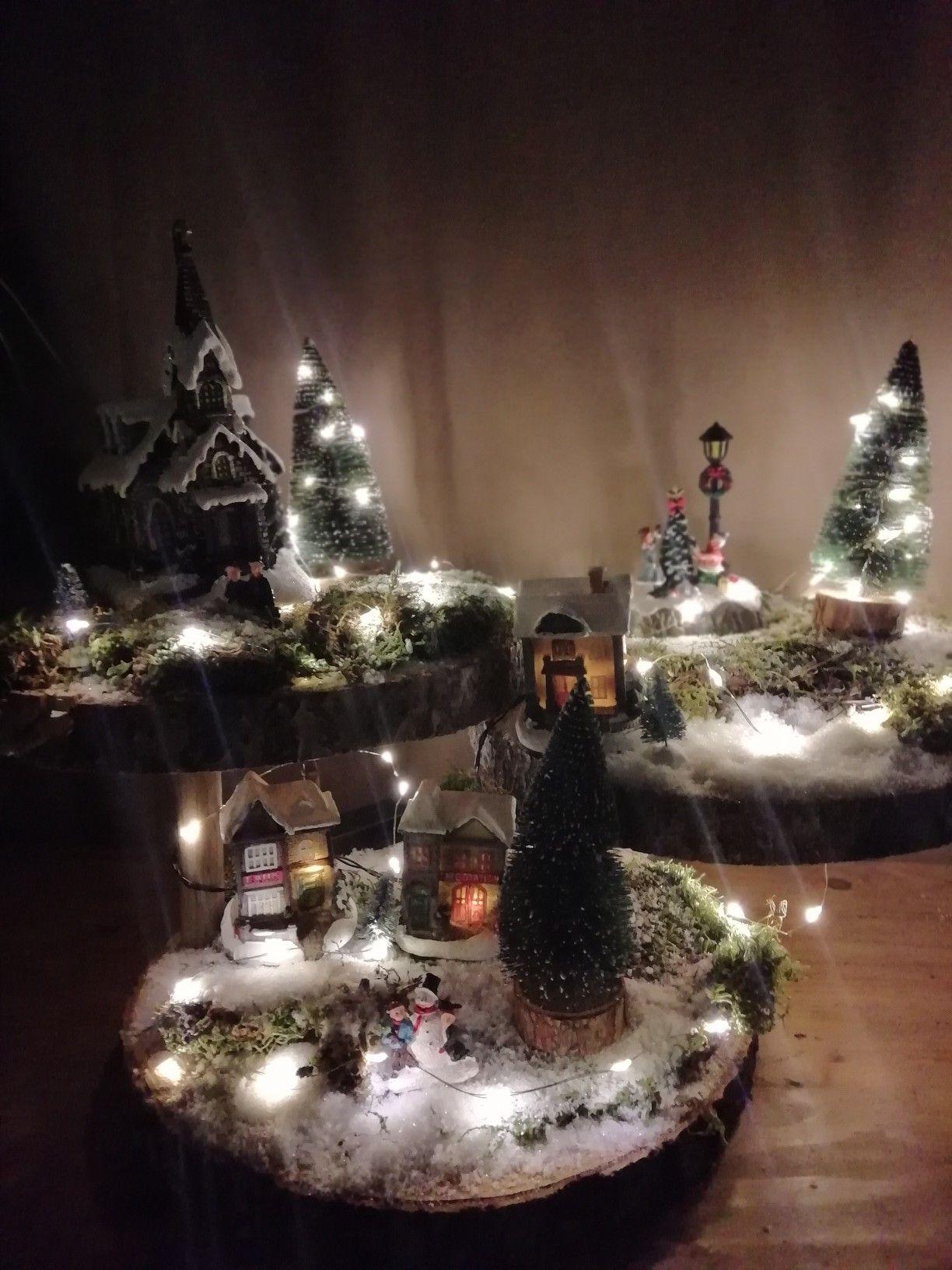 Kerstdorp met verlichting Kerst dorpen, Projecten